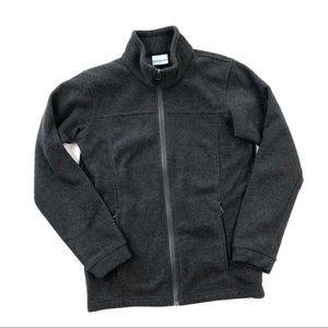 Columbia boy gray fleece zip jacket sweatshirt L